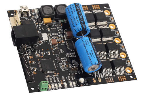 Centaur, a high power (40A) single DC motor driver and controller board powered by LPC1751 microcontroller.