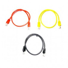 Ethernet cable UTP RJ45 0.5m red / yellow / black