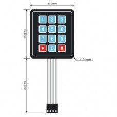 Button Pad 4 x 3 - with sticker backing (keypad)