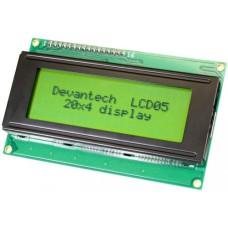 LCD05 - I2C/Serial LCD - 20 x 4 - Green